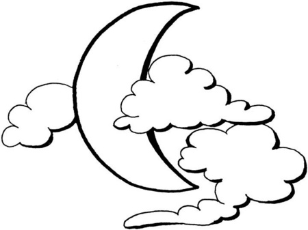 Colorear Estrellas y Lunas Luna Para Colorear