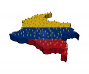 PZ C: mapa de colombia (bandera de mapa de colombia con muchas personas abstracta ilustracion)