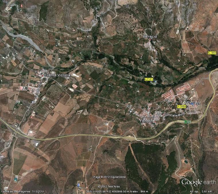 Los tres pueblos del municipio