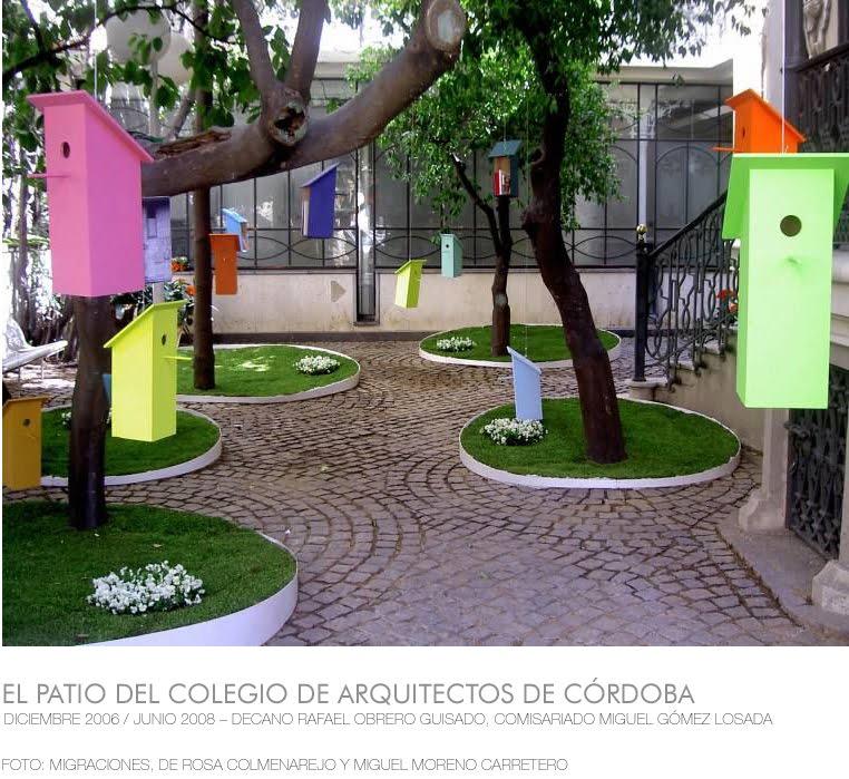 el patio del colegio de arquitectos de córdoba