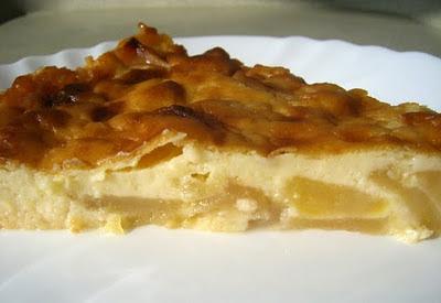 recettes  Gâteau sans oeufs aux pommes & jus dorange