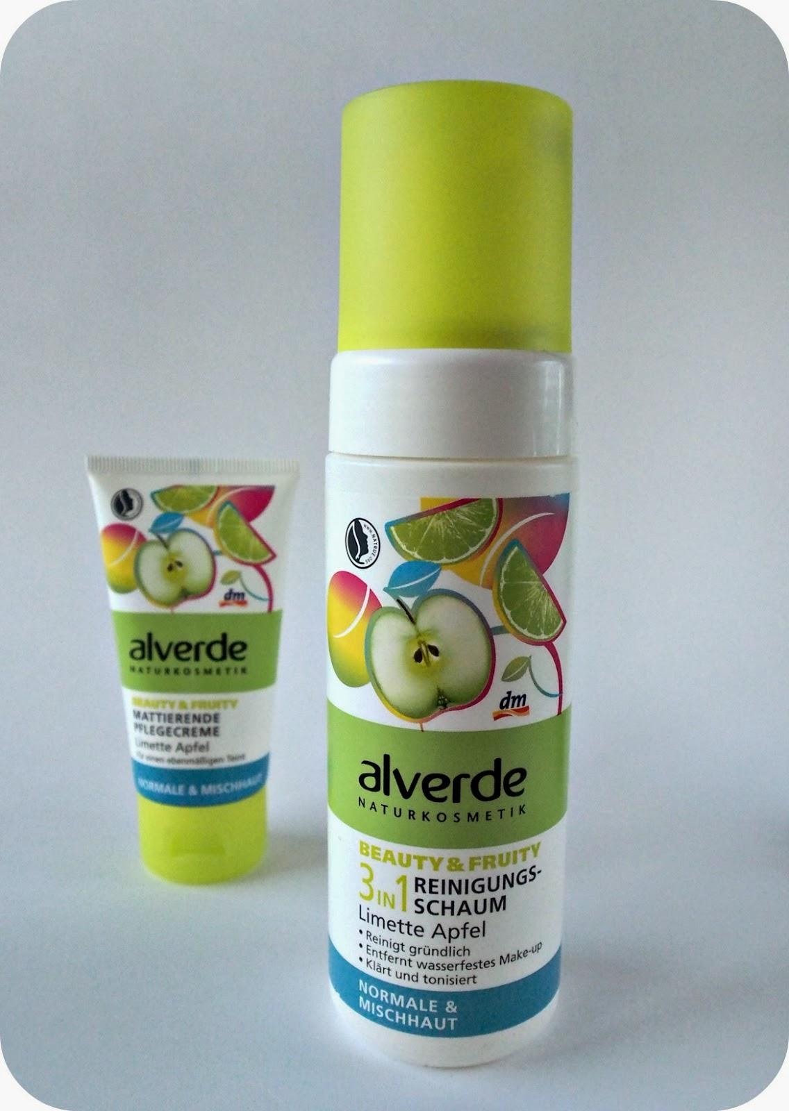 Alverde Beauty&Fruity: mój zestaw z limetką i jabłkiem