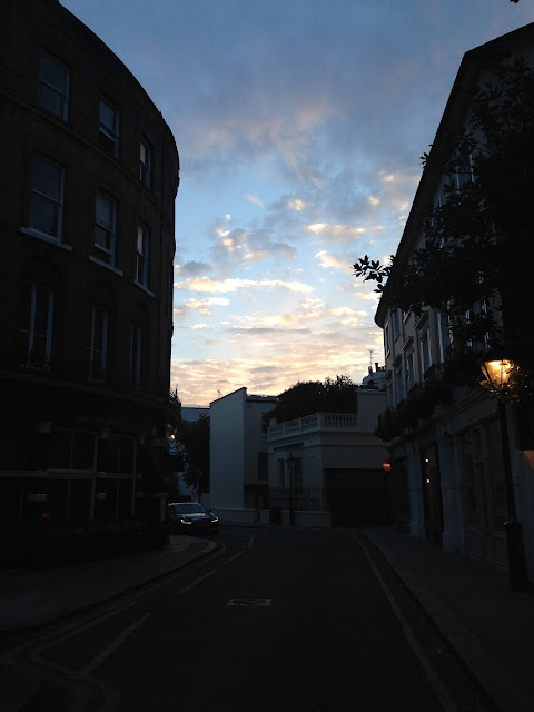 Sunset over Kensington, London W8