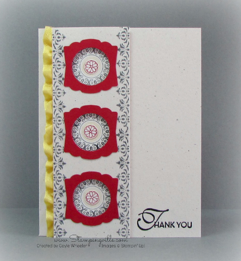 Lacy + Lovely Thank You Card