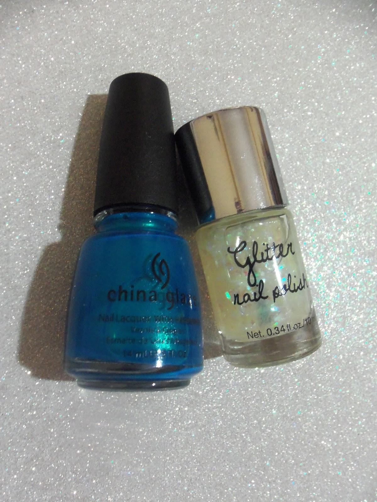 china glaze sexy in the city hnm glitter nail polish