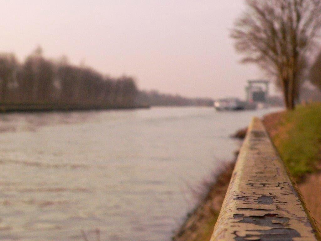 Schleuse Rost Wasser Frachtschiff
