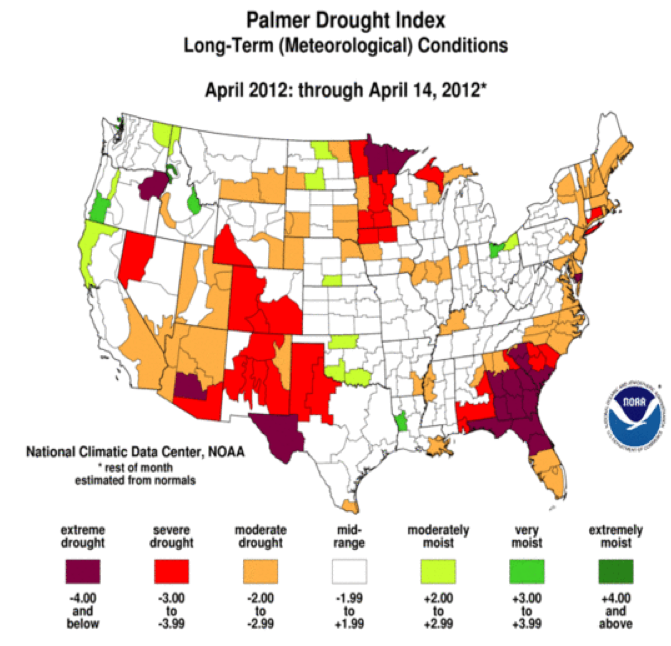 Early Warning: US Drought Map for Week of April 14