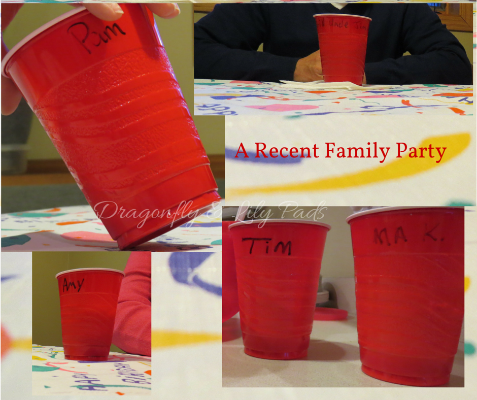 Christmas Ornament made from Red solo Cups, Birthday Party Table Red Solo Cups