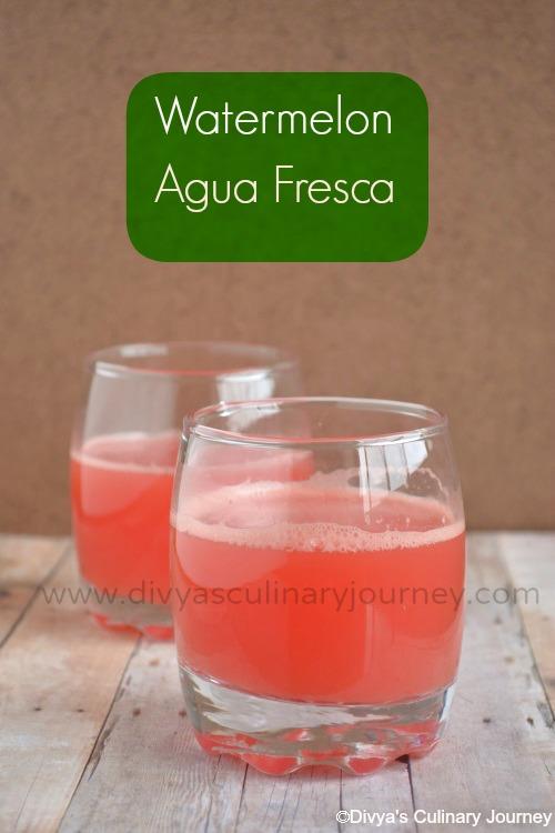 ... journey: Watermelon Agua Fresca- Watermelon Recipes- Summer coolers