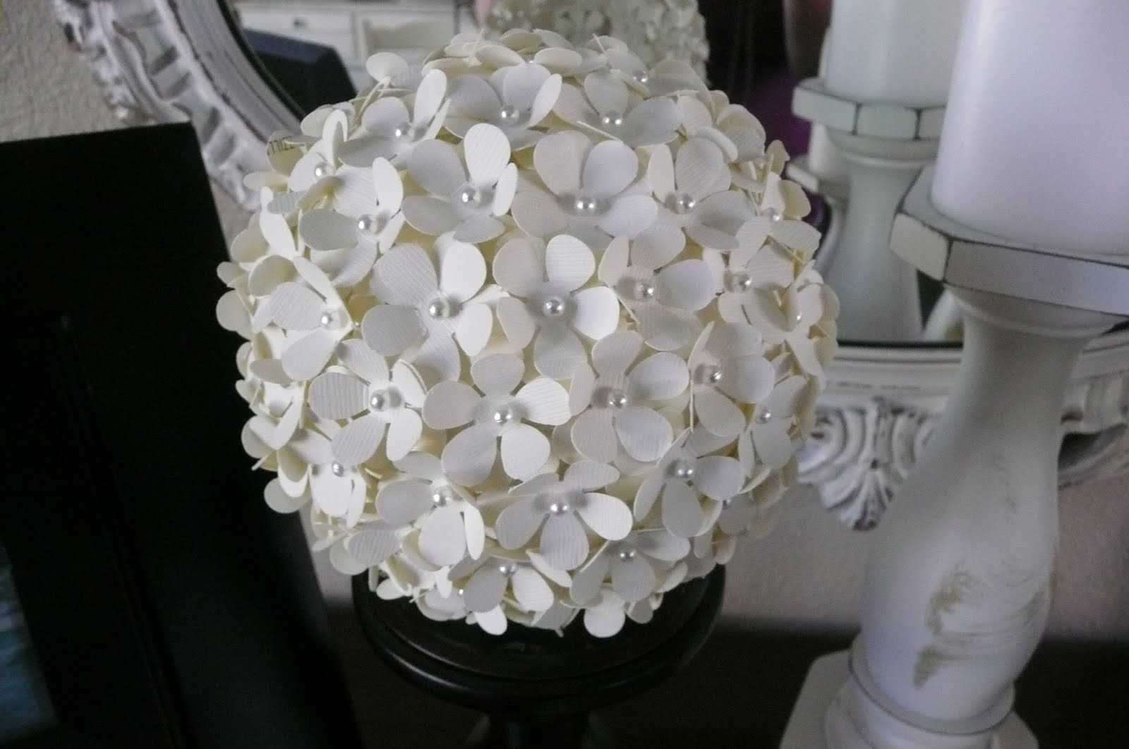 Me Myself And Tena My Paper Hydrangea Ball That I Promised