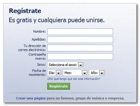 crear usuario facebook