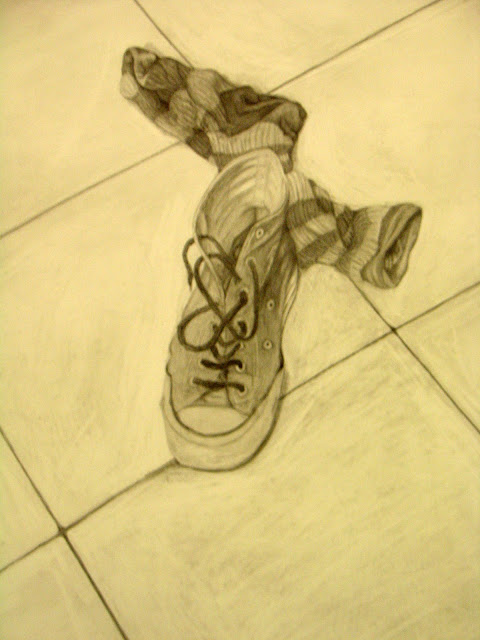 shoe sock drawing by fora