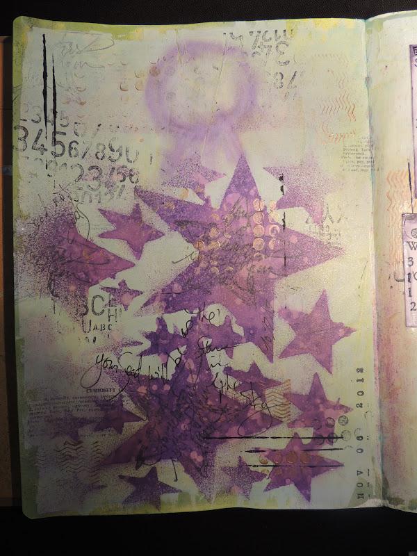 Art Journal Calendar Pages : Bolton house art journaling calendar page april