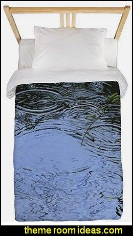 Raindrops bedding rain themed bedroom decor wet weather theme bedrooms