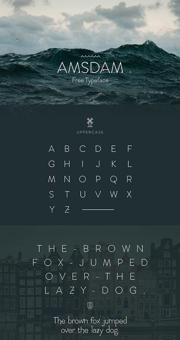 Download Gratis Font Terbaru September 2015 - Amsdam Typeface
