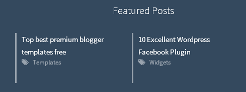 New! Featured Post Widget for Blogger 2014