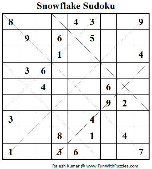 Snowflake Sudoku (Daily Sudoku League #109)