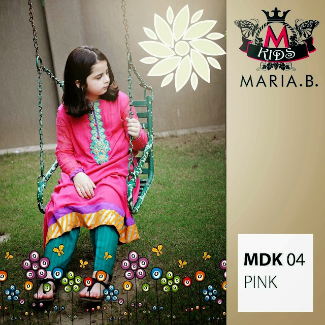 New 2013-2014 Fall Winter Dresses Collection For Kids By Maria B
