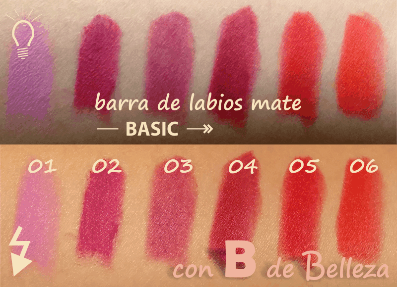Swatches Labiales mates