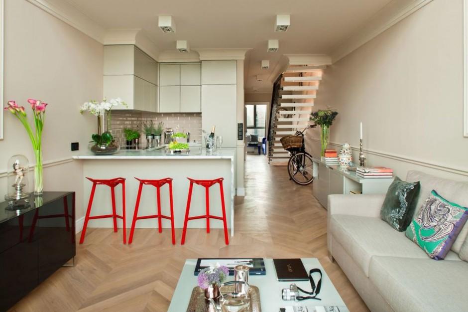 decoración de salas con cocina y comedor