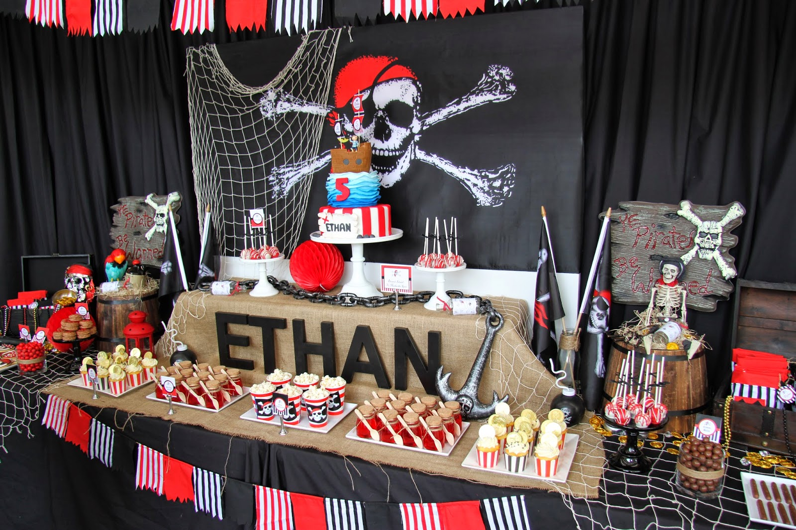 Leonies Cakes And Parties PIRATE PARTY