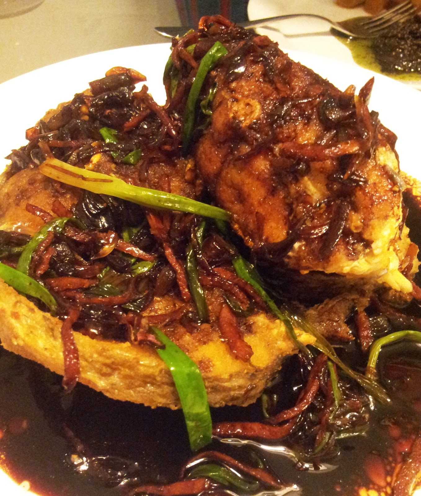 Deep Fried Fish With Dark Soy Sauce
