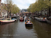 boats at Queen's Day Amsterdam