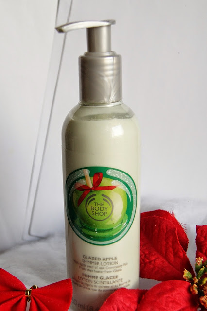 Glazed Apple Shimmer Lotion The Body Shop, beauty, skincare, wash, lotion, scrub, christmas, ideas, shopping, toronto, ontario, canada, the purple scarf, melanie.ps