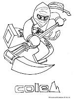 Mewarnai Gambar Ninjago Cole
