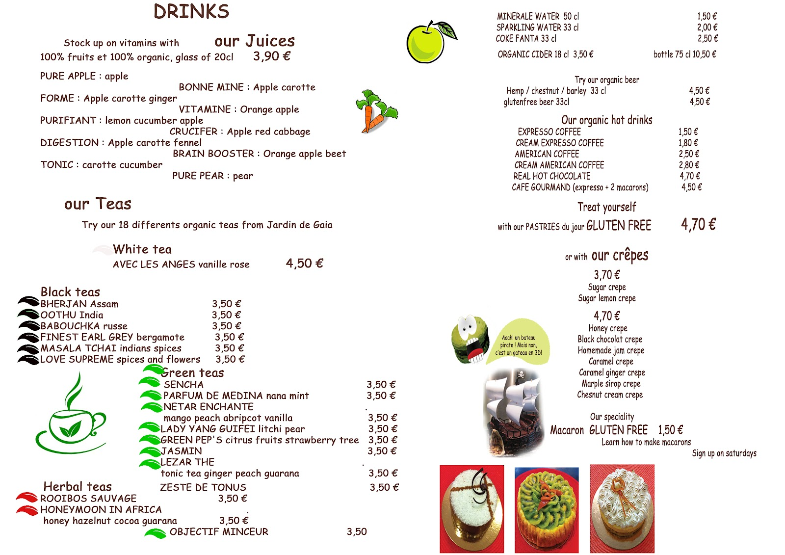 Cafe Anglais Paris Menu
