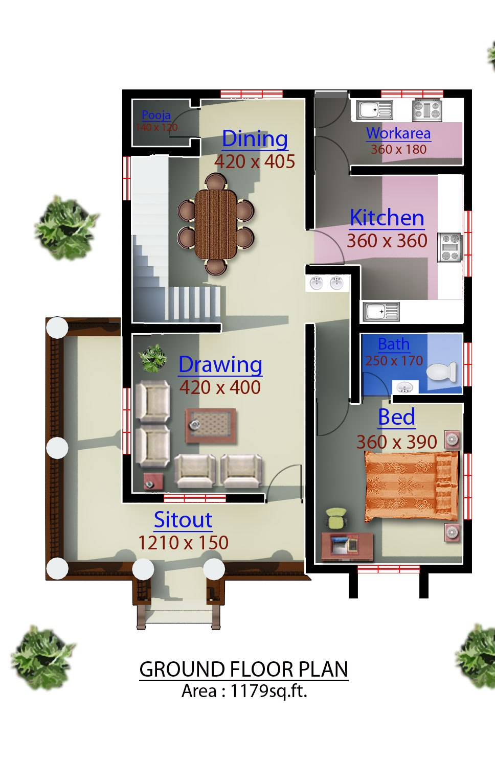 3 bedroom kerala house plans joy studio design gallery for 3 bedroom plan in kerala