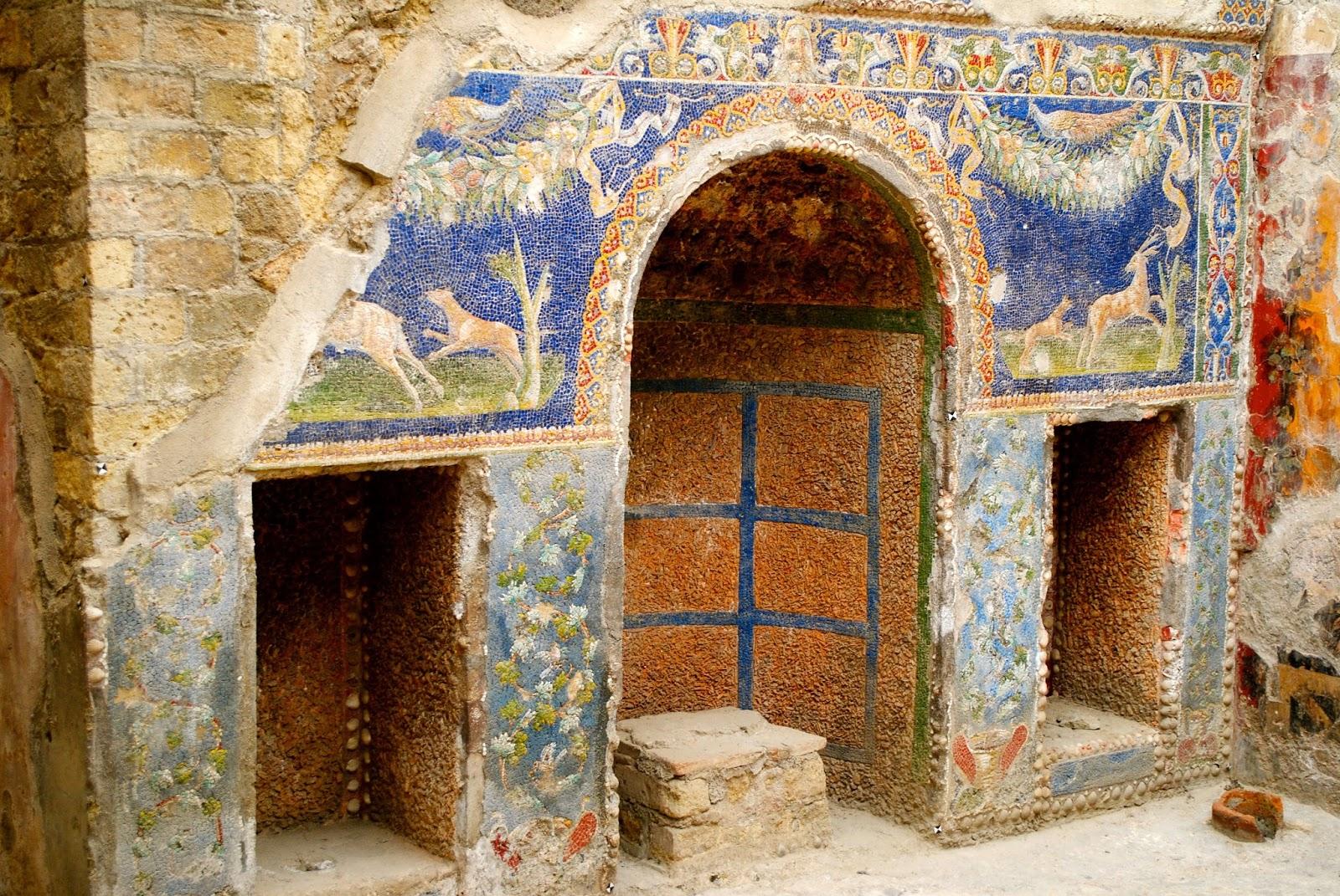 Mosaics in Herculaneum in Italy