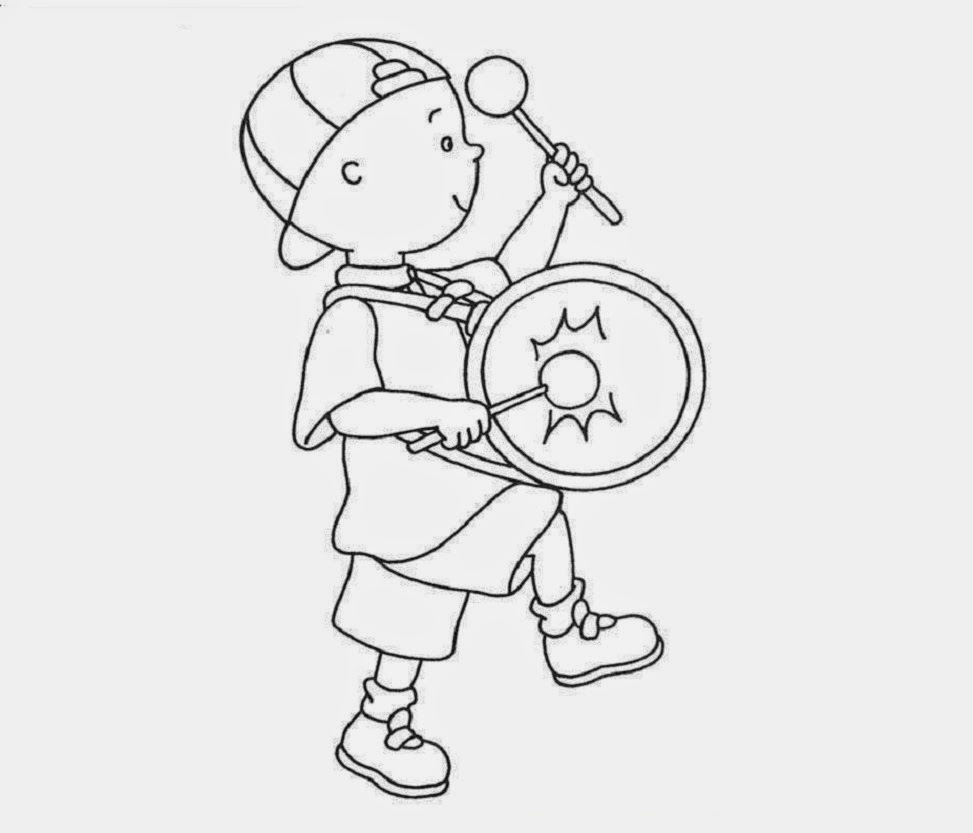 Caillou Coloring Drawing Free wallpaper