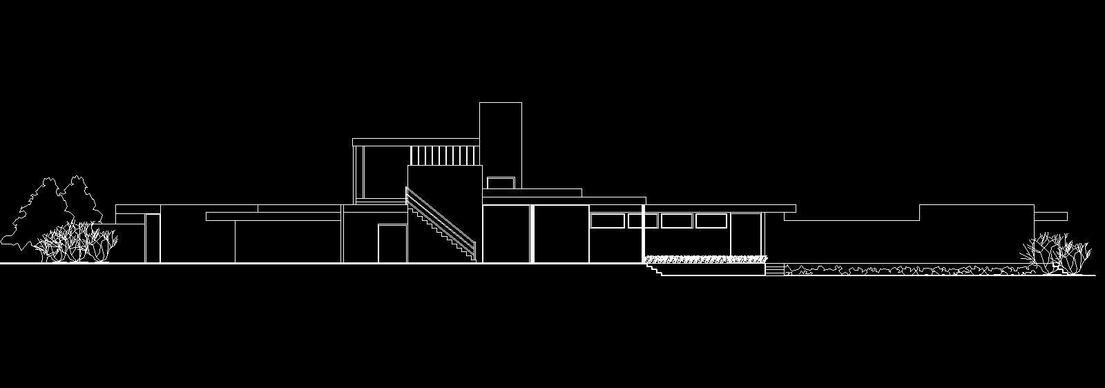 kaufmann desert house: elev