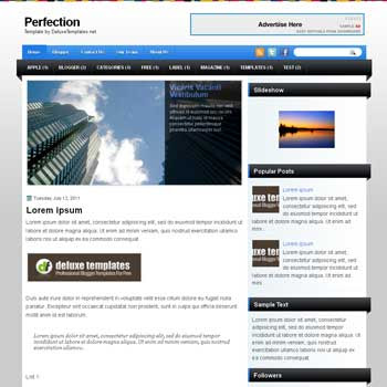 Perfection blogger template. template blogspot magazine style