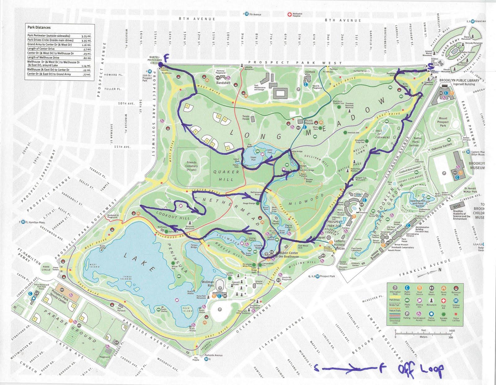 prospect park running map adriftskateshop