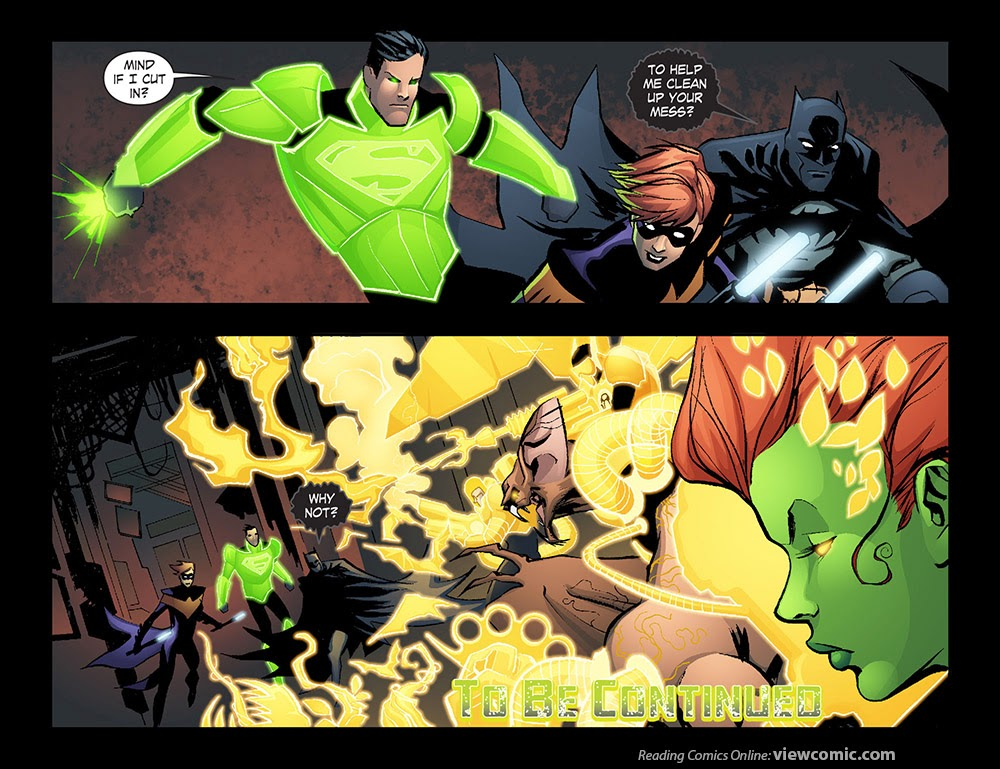 Yellow lantern superman