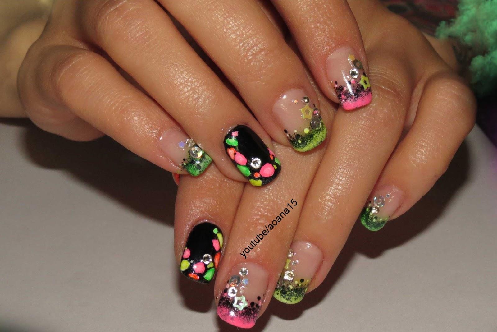 Фото дизайна ногтей ярких цветов