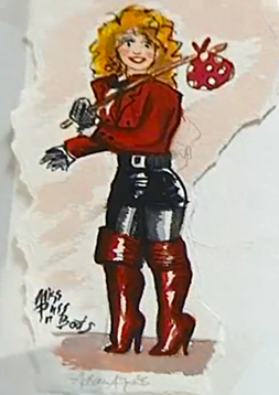 Miss Puss in Boots, drawing by Adam Ant.