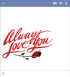 Eternal love sticker for Facebook