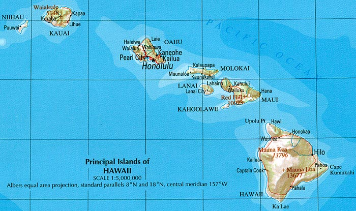 Bewitching image in printable map of hawaiian islands