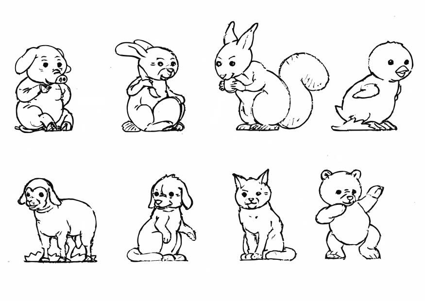 Dibujos para colorearanimales terrestres - Imagui
