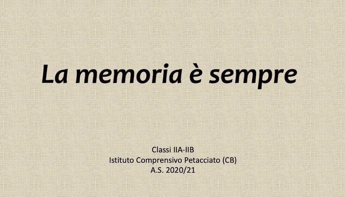 La memoria è sempre