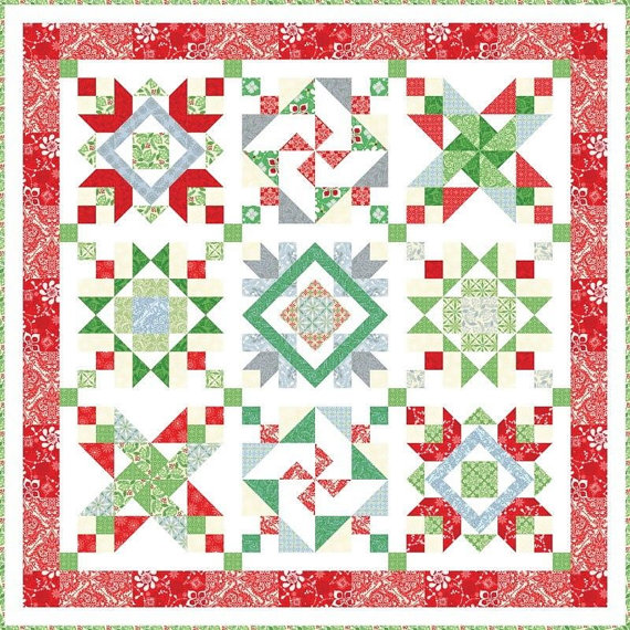 Free Quilt Patterns Moda Fabrics : Quilt Inspiration: Free pattern day: Christmas quilts ! (part 3)