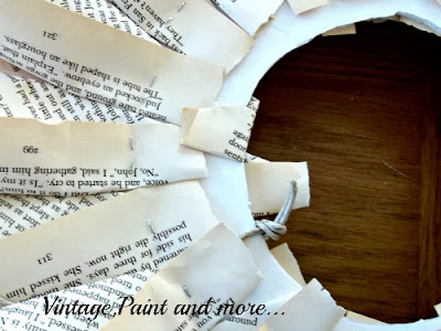 Book Page Wreath Tutorial - finishing the back