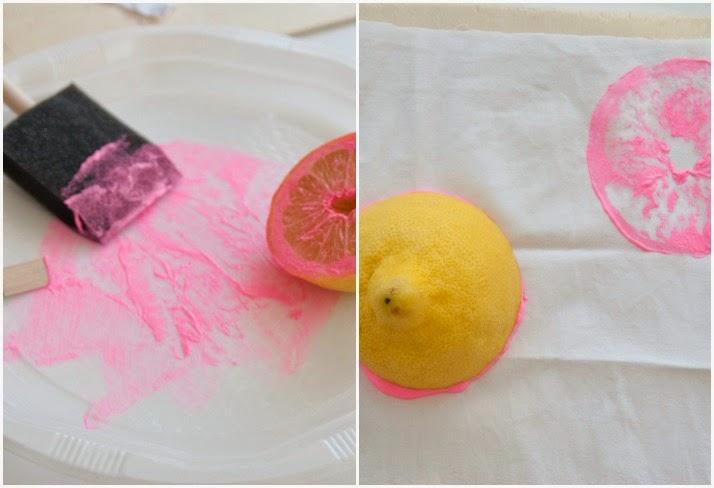 Reto pinterest estampación frutas