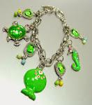 Green Life Fish Charm Bracelet