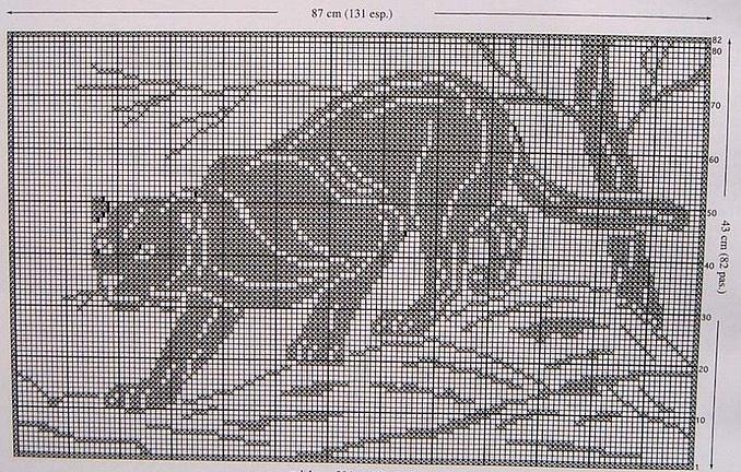 Пантеры вышивка крестом схемы