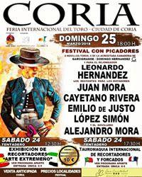 CORIA (ESPAÑA) 25-03-2018. LEONARDO HERNANDEZ TOREA ESTE GRAN FESTIVAL CON PICADORES.