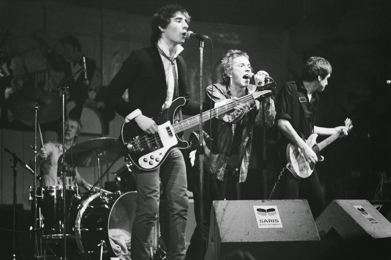 The Sex Pistols were an English punk rock band that formed in London in 1975. They were responsible for initiating the punk movement in the United Kingdom and inspiring many later punk and alternative rock musicians.http://www.jinglejanglejungle.net/2015/01/uk4.html #SexPistols